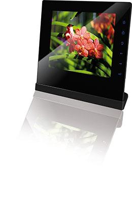 rollei designline 3085 digitaler bilderrahmen 8 zoll kamera. Black Bedroom Furniture Sets. Home Design Ideas