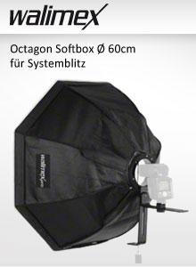 walimex Octagon Softbox Ø 60cm für Systemblitz