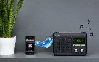 Pure One Flow Tragbares Internetradio (DAB/DAB+/UKW-Radio