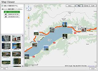 Routenverfolgung mit MyFINEPIX Studio