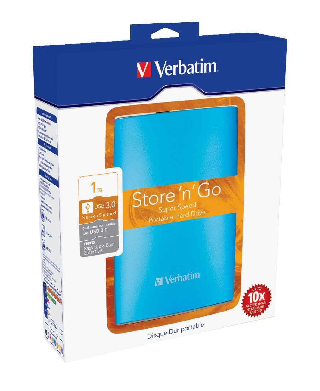 Verbatim 1 Tb Externe Festplatte 2 5 Zoll Blau Computer Zubehör