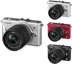 Panasonic Lumix DMC-GF2KEG-S Systemkamera titan-silber Kit mit Standardzoom 14-42 mm schwarz