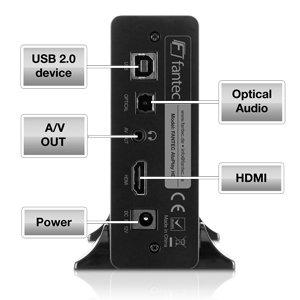 FANTEC AluPlay HD Schnittstellen