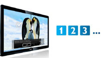 3 HDMI-Eingänge mit EasyLink