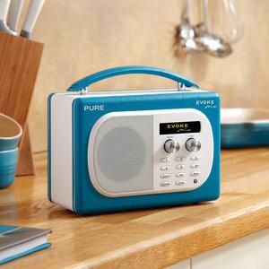 Pure evoke mio vl 61626 tragbares radio dab dab ukw for Badezimmer radio design