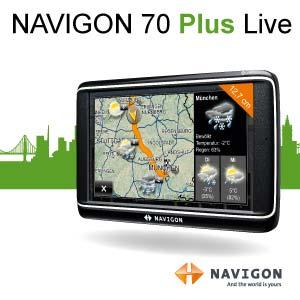 navigon 70 plus live navigationssystem 5 zoll elektronik. Black Bedroom Furniture Sets. Home Design Ideas