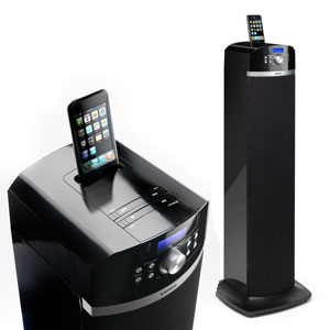 lenco ipt 2 high power lautsprecher mit dockingstation f r apple ipod iphone pll ukw radio. Black Bedroom Furniture Sets. Home Design Ideas