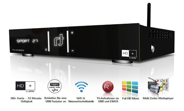 Volksbox WebEdition DVB-S2 Satelliten-Receiver (HD+, HDMI