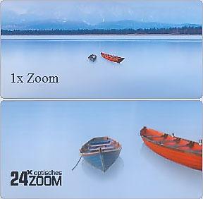 24-fache Zoom-Optik