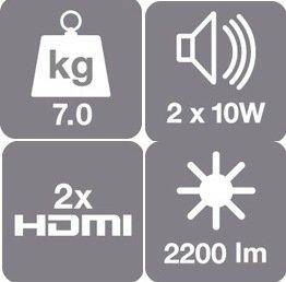 EH-TW6000 LCD-Projektor