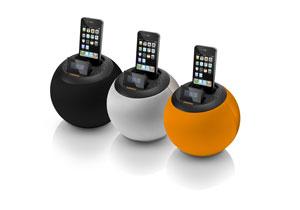 lenco ipd 4600 high power lautsprecher mit apple ipod dock orange heimkino tv video. Black Bedroom Furniture Sets. Home Design Ideas