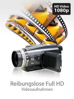 Reibungslose Full HD Videoaufnahmen