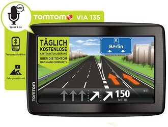 tomtom via 135 europe traffic navigationssystem 5 zoll. Black Bedroom Furniture Sets. Home Design Ideas