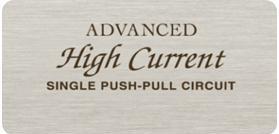 Advanced High Current (AHC) Single-Push-Pull-Schaltung für eine optimale Balance zwischen musikalischen Details und Leistung