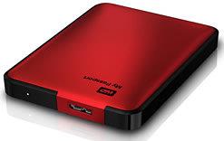 My Passport - Tragbare Festplatte in Rot metallic