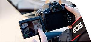 Touch screen technology erstmals für eos