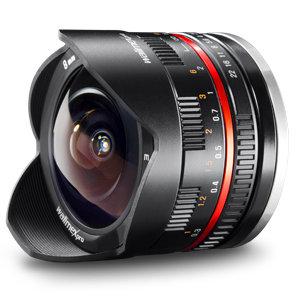 Walimex Pro 8/2,8 Fish-Eye Objektiv für Sony Nex E-Mount