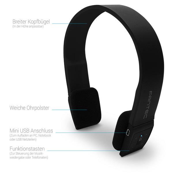 Bluetooth Headset/Kopfhörer schwarz