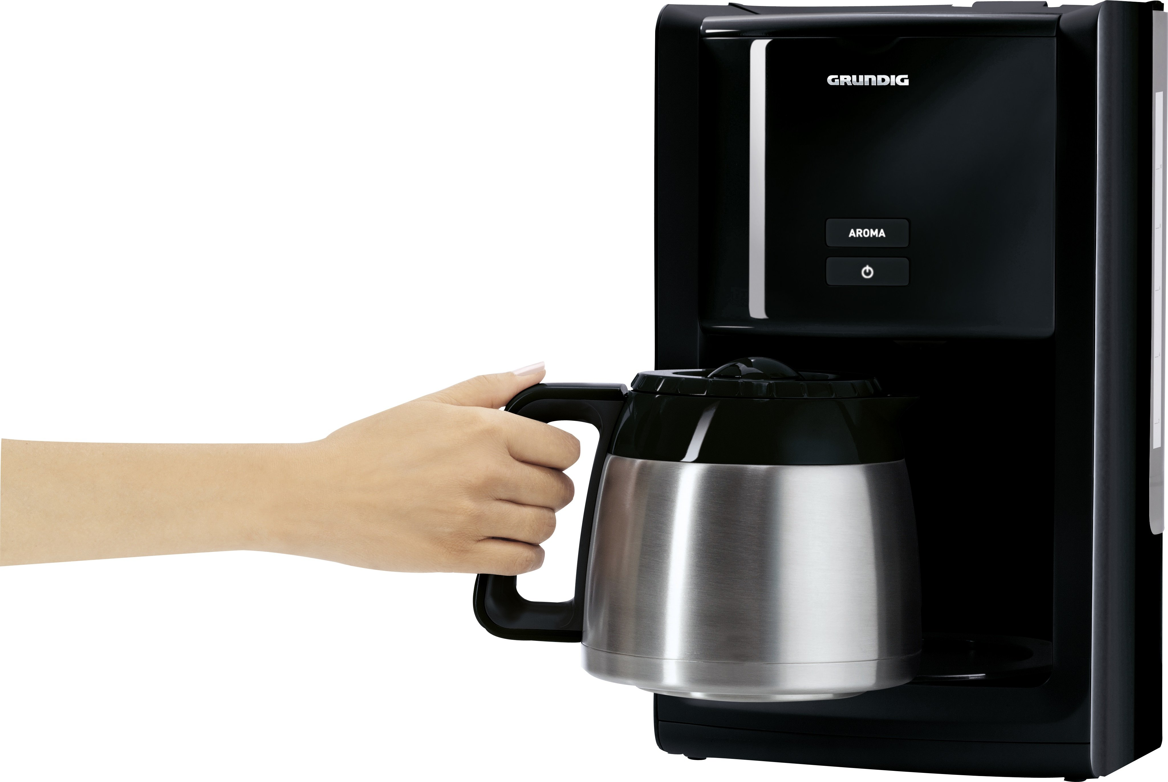 grundig km 8280 kaffeemaschine gourmet 1000 watt 1 5 l isolierkanne schwarz. Black Bedroom Furniture Sets. Home Design Ideas