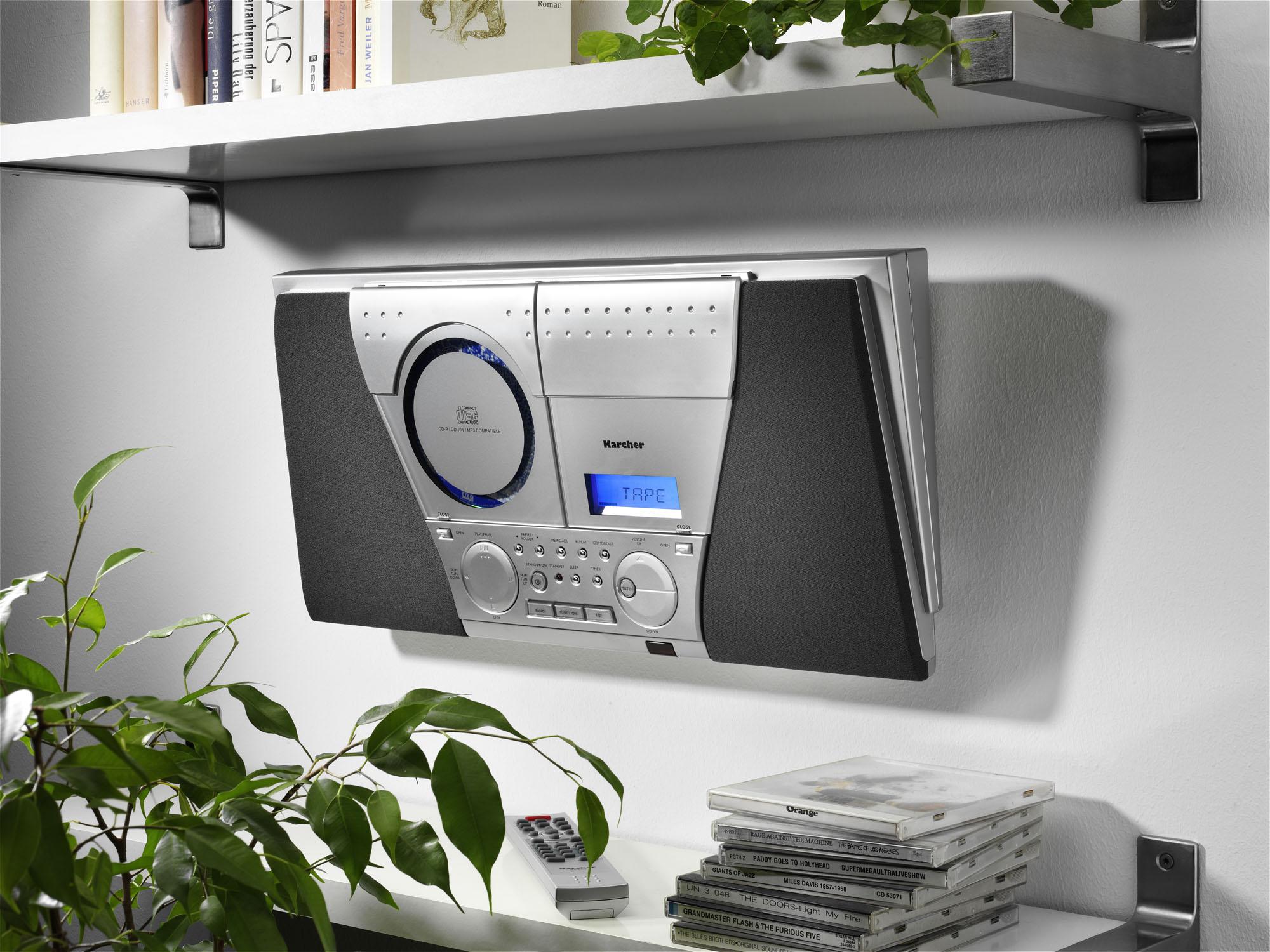 karcher mc 6550n musik center cd player mp3 wiedergabe. Black Bedroom Furniture Sets. Home Design Ideas