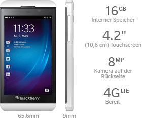 Das BlackBerry Z10 Smartphone