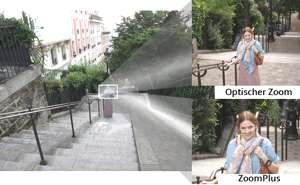 Weitwinkelobjektiv mit 5fach optischem Zoom und 10fach ZoomPlus
