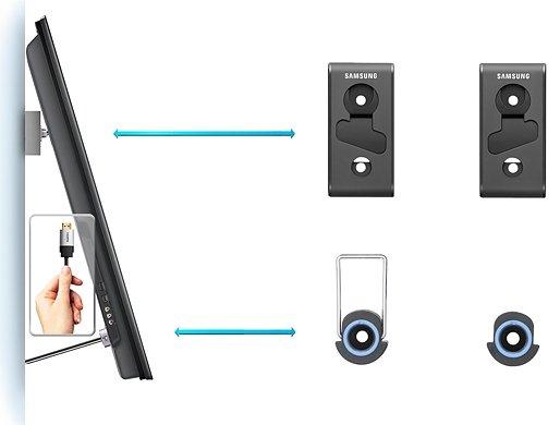 samsung wmn350m mini wandhalterung f r tv ger te von 81 2 cm 32 zoll bis 165 1 cm 65 zoll. Black Bedroom Furniture Sets. Home Design Ideas