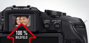 OLED Sucher mit 100% Bildfeld, automatischer Augensensor