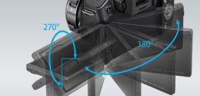 Frei dreh- und schwenkbares elektrostatisches LC-Display