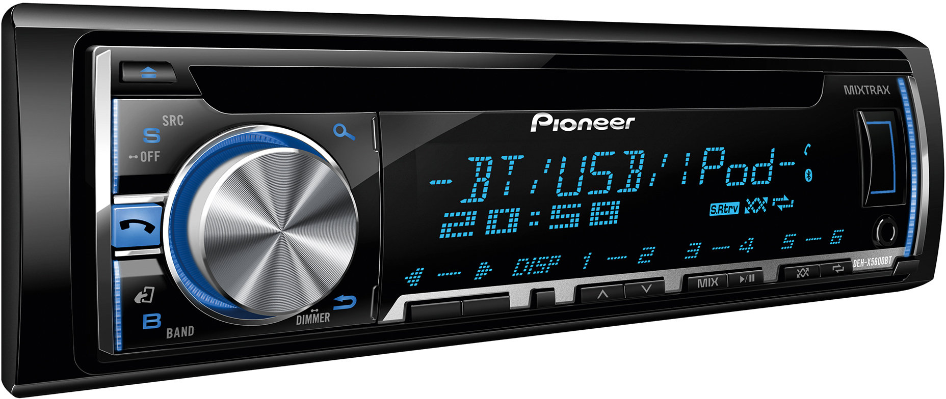 pioneer deh x5600bt cd tuner mit bluetooth schwarz elektronik. Black Bedroom Furniture Sets. Home Design Ideas