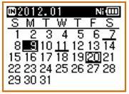 Kalendersuchfunktion