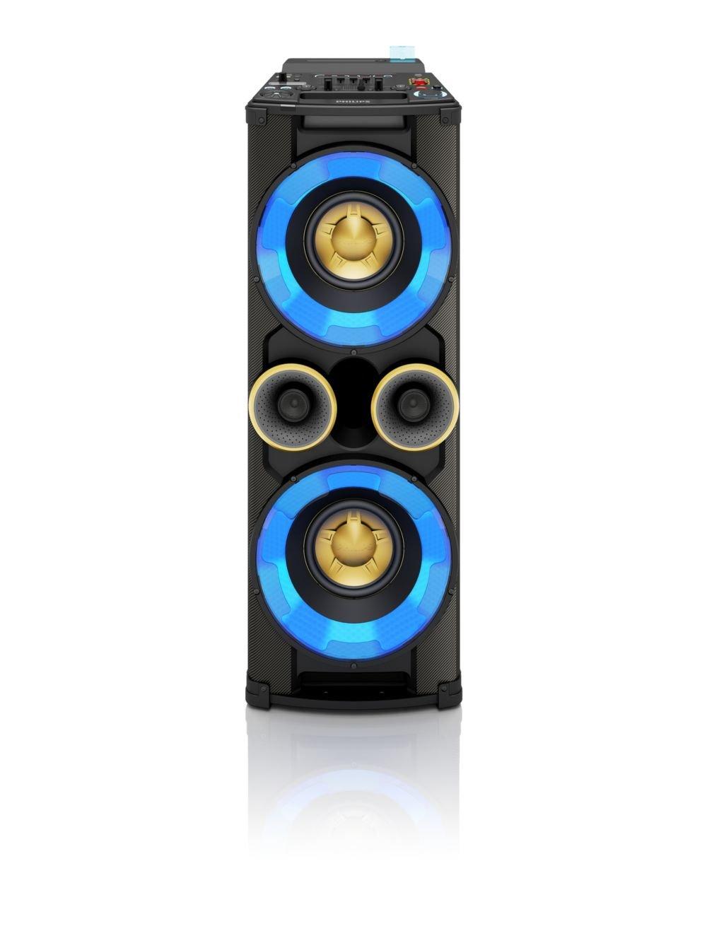 Philips NTRX500/10 Party Tower-System (650 Watt, Bluetooth