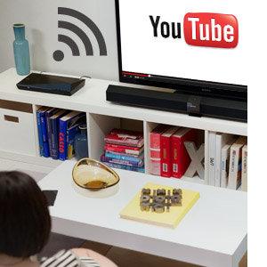 Streamen Sie Unterhaltung nach Bedarf mit integriertem Wi‐Fi