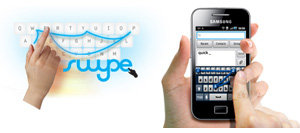 Galaxy Mini mit Swype Texteingabe