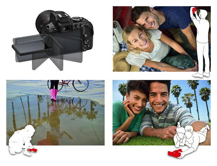 Nikon D5300 mit schwenkbarem Bildschirm