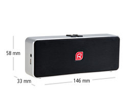 Raikko POCKET BEAT Bluetooth Vacuum Speaker - Mini Aktiv Speaker - Maße