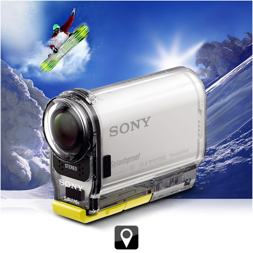 sony hdr as100v ultra kompakter action camcorder mit. Black Bedroom Furniture Sets. Home Design Ideas