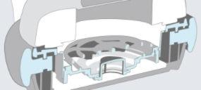 Technologie Advanced Direct Vibe Structure offrant des basses équilibrées