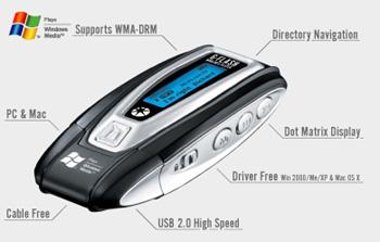 maxfield g flash tragbarer mp3 player 1 gb silber Beste Bilder: