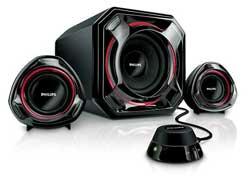 Philips Spa 5300 10 2 1 Multimedia Lautsprechersystem Amazon De