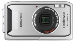 Pentax Optio W60 Digitalkamera 2 5 Zoll Silber Kamera
