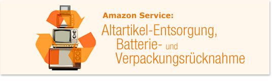 Altartikel-Entsorgung, Batterie- & Verpackungsrücknahme