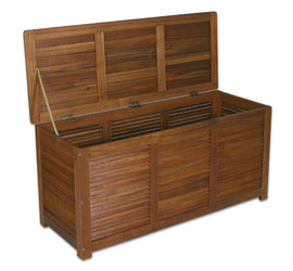 profiline auflagenbox akazienholz fsc zertifiziert ge lt edelstahlbeschl ge. Black Bedroom Furniture Sets. Home Design Ideas