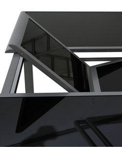 siena garden 431274 ausziehtisch delano silber glasplatte schwarz l 170 220 x b 100. Black Bedroom Furniture Sets. Home Design Ideas