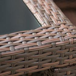 siena garden 499098 tisch bern bi color mocca glasplatte schwarz l 150 x b 90 x h. Black Bedroom Furniture Sets. Home Design Ideas