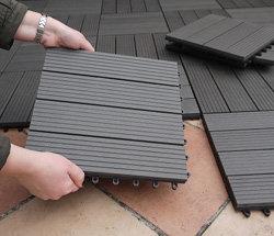 everfloor wpc bambusholz kunststoff terrassenfliesen bodenfliese 10er set ca 0 9 m2 30 x 30. Black Bedroom Furniture Sets. Home Design Ideas