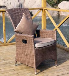 ambientehome verstellbarer polyrattan sessel stuhl somalia braun. Black Bedroom Furniture Sets. Home Design Ideas
