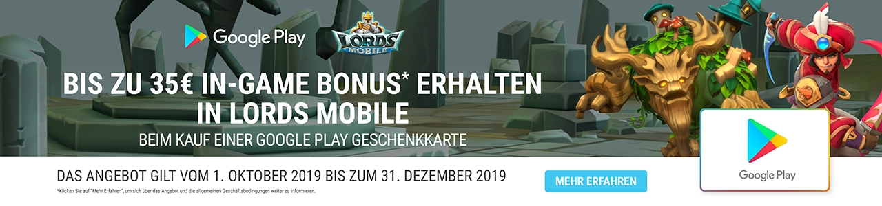 Google Play Aktion Lords Mobile