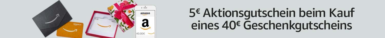 40€ Amazon-Geschenkgutschein kaufen & 5€ Aktionsgutschein geschenkt bekommen