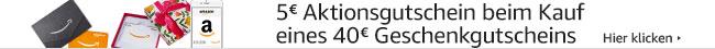 5€ Aktionsgutschein beim Kauf eines 40€ Geschenkgutscheins